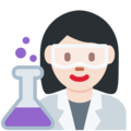 Woman Scientist: Light Skin Tone on Twitter Twemoji 2.5