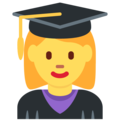 Woman Student on Twitter Twemoji 2.5