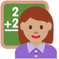 Woman Teacher: Medium Skin Tone on Twitter Twemoji 2.5