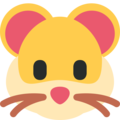Hamster Face on Twitter Twemoji 2.5
