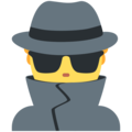 Man Detective on Twitter Twemoji 2.5