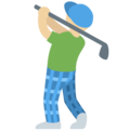 Man Golfing: Medium-Light Skin Tone on Twitter Twemoji 2.5