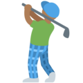 Man Golfing: Medium-Dark Skin Tone on Twitter Twemoji 2.5