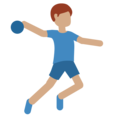 Man Playing Handball: Medium Skin Tone on Twitter Twemoji 2.5