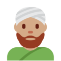 Man Wearing Turban: Medium Skin Tone on Twitter Twemoji 2.5