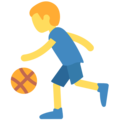 Man Bouncing Ball on Twitter Twemoji 2.5