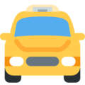 Oncoming Taxi on Twitter Twemoji 2.5