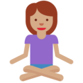 Person in Lotus Position: Medium Skin Tone on Twitter Twemoji 2.5