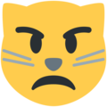 Pouting Cat Face on Twitter Twemoji 2.5