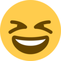 Grinning Squinting Face on Twitter Twemoji 2.5