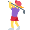 Woman Golfing on Twitter Twemoji 2.5