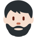 Bearded Person: Light Skin Tone on Twitter Twemoji 2.6
