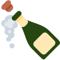 Bottle With Popping Cork on Twitter Twemoji 2.6