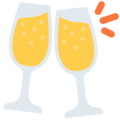 Clinking Glasses on Twitter Twemoji 2.6