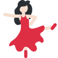 Woman Dancing: Light Skin Tone on Twitter Twemoji 2.6