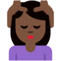 Person Getting Massage: Dark Skin Tone on Twitter Twemoji 2.6