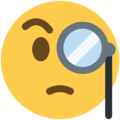 Face With Monocle on Twitter Twemoji 2.6