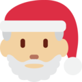 Santa Claus: Medium-Light Skin Tone on Twitter Twemoji 2.6