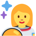 Woman Astronaut on Twitter Twemoji 2.6