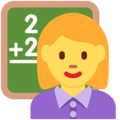 Woman Teacher on Twitter Twemoji 2.6