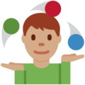 Person Juggling: Medium Skin Tone on Twitter Twemoji 2.6