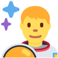 Man Astronaut on Twitter Twemoji 2.6