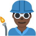 Man Factory Worker: Dark Skin Tone on Twitter Twemoji 2.6