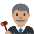 Man Judge: Medium Skin Tone on Twitter Twemoji 2.6