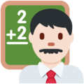 Man Teacher: Light Skin Tone on Twitter Twemoji 2.6