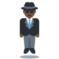 Man in Suit Levitating: Dark Skin Tone on Twitter Twemoji 2.6