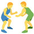 Men Wrestling on Twitter Twemoji 2.6