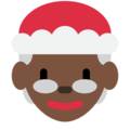 Mrs. Claus: Dark Skin Tone on Twitter Twemoji 2.6