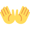 Open Hands on Twitter Twemoji 2.6