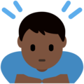 Person Bowing: Dark Skin Tone on Twitter Twemoji 2.6
