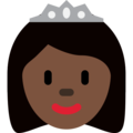 Princess: Dark Skin Tone on Twitter Twemoji 2.6