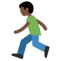 Person Running: Dark Skin Tone on Twitter Twemoji 2.6