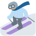 Skier, Type-4 on Twitter Twemoji 2.6
