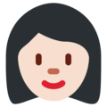Woman: Light Skin Tone on Twitter Twemoji 2.6