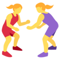 Women Wrestling on Twitter Twemoji 2.6
