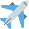 Airplane on Twitter Twemoji 2.7