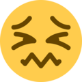 Confounded Face on Twitter Twemoji 2.7