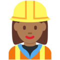 Woman Construction Worker: Medium-Dark Skin Tone on Twitter Twemoji 2.7