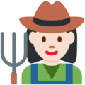 Woman Farmer: Light Skin Tone on Twitter Twemoji 2.7