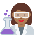 Woman Scientist: Medium-Dark Skin Tone on Twitter Twemoji 2.7