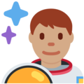 Man Astronaut: Medium Skin Tone on Twitter Twemoji 2.7