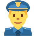 Man Police Officer on Twitter Twemoji 2.7