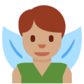 Man Fairy: Medium Skin Tone on Twitter Twemoji 2.7