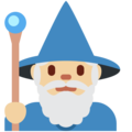 Man Mage: Medium-Light Skin Tone on Twitter Twemoji 2.7