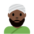 Person Wearing Turban: Dark Skin Tone on Twitter Twemoji 2.7