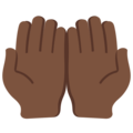 Palms Up Together: Dark Skin Tone on Twitter Twemoji 2.7